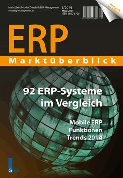 92 ERP-Systeme im direkten Vergleich – Mobile ERP, Funktionen und die Trends 2014