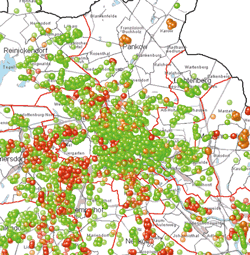 Kartografische Visualisierung von Kennzahlen